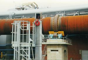 IR system monitors rotary kiln