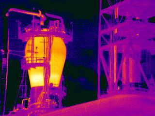 Thermal imaging in chemical processing plant